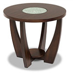 Steve Silver Rafael Cracked Glass End Table 169.00