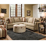 Corinthian Milan Sectional, Chair and Ottoman 1996.00