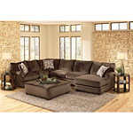 Jackson Stylish Contemporary  Rachael Sectional with Ottoman 2196.00