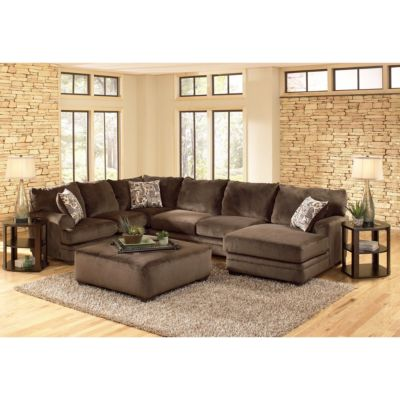 Jackson Stylish Contemporary Rachael Sectional with Ottoman