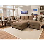 Corinthian Wynn Sectional and Ottoman