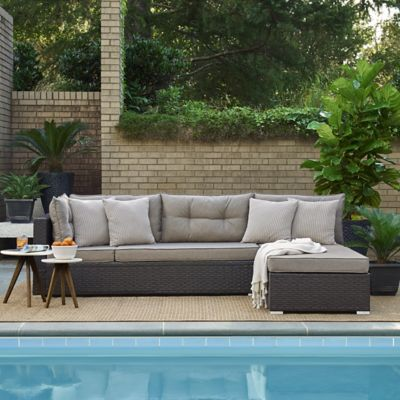 Relax A Lounger Brown Jenson Modular Convertible Sofa