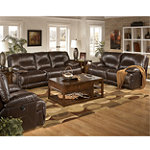 Home Solutions Michigan Collection 5-Piece Leather Power Living Room Package