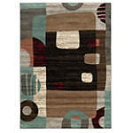 Powell Circles and Square Contemporary 5' x 7' Rug 99.00