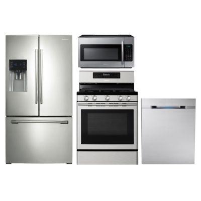 Samsung 4-Piece Stainless Steel Kitchen Package
