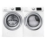Samsung 4.2 Cu. Ft. Steam Front-Load Washer and 7.5 Cu. Ft. Steam Gas Dryer