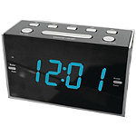 Sylvania Jumbo Digit Alarm Clock Radio with Blue LED