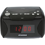 Sylvania USB-Charging CD Clock Radio