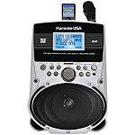 Karaoke USA Portable Karaoke Player with 3.2' Screen and 100 Songs