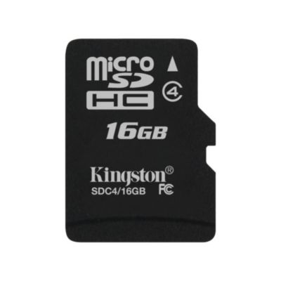 Kingston 16GB microSDHC Card Class 4 (SD adapter not included)