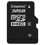 Kingston 32GB microSDHC Card Class 4 (SD adapter not included) 27.00
