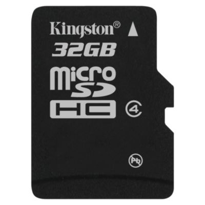 Kingston 32GB microSDHC Card Class 4 (SD adapter not included)