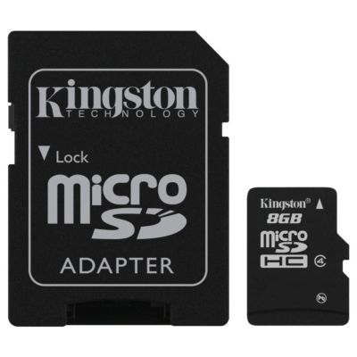 Kingston 8GB microSDHC Card Class 4