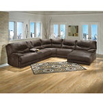 Home Solutions Edgewood Collection 6-Piece Walnut Sectional
