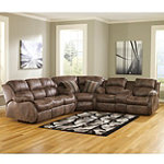 Berkline Emerson Collection 3-Piece Living Room Sectional Group No price available.