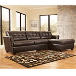 Home Solutions Meridian Collection 2-Piece Chocolate DuraBlend® Sectional Group