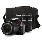 Canon 18 Megapixel Rebel SL1 Digital SLR Camera with 18-55mm IS Lens, 75-300mm f/4-5.6 IS Telephoto Zoom Lens and Bag 549.99