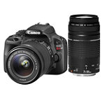 Canon EOS Rebel SL1 18 Megapixel Digital SLR Camera with 18-55mm IS Lens and 75-300mm Zoom Lens 749.99