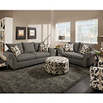 Corinthian Valence Sofa and Loveseat No price available.