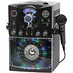 Singing Machine Black Karaoke System with Sound and Light Show