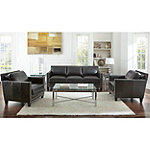 Steve Silver Leather Sofa and Chair