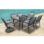 CCI St. Regis 7-Piece 3D Stamped Cushion Patio Set