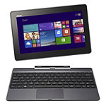 Asus Touchscreen Transformer Book 2-in-1 Laptop/Tablet with Intel® Atom™ Quad Core Z3740 Processor No price available.