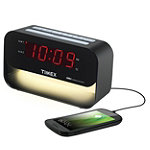 Timex XBBU Dual Alarm Clock with USB Charging and Night Light 19.99