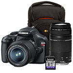 Canon 12.2 Megapixel Digital SLR Camera with 2 Lenses, Camera Case and 8GB SD Card No price available.
