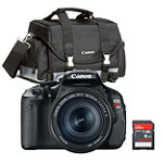 Canon 18 Megapixel Digital SLR Camera with 18-55mm IS Lens, Gadget Case and 8GB SD Card 599.99