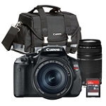 Canon 18 Megapixel Digital SLR Camera with 18-55mm IS Lens, 5-300mm Zoom Lens, Case and 8GB SD Card 799.94