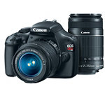 Canon 12.2 Megapixel Digital SLR Camera with 18-55mm IS Lens and 55-250mm f/4-5.6 IS Telephoto Zoom Lens 749.98