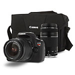 Canon 18 Megapixel Rebel T5 Digital SLR Camera with 18-55mm IS Lens, 75-300mm f/4-5.6 IS Telephoto Zoom Lens and Bag 499.99