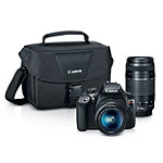 Special Buy! Canon 18 Megapixel Rebel T6 Digital SLR Camera with 18-55mm Lens and 75-300mm Lens