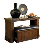 Home Solutions Sofa Table with Mobile Ottoman No price available.