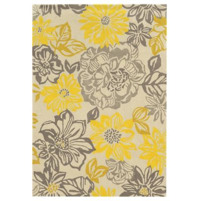 Powell Floral Yellow Trio 5' x 7' Rug