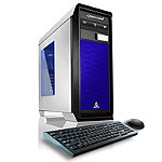 CybertronPC Titanium-1080X Gaming PC with Intel i7-6700K 4GHz Processor, 16GB DDR4 Memory, 1TB HDD Hard Drive, Blue
