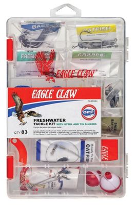Eagle Claw 83-Piece Fresh Water Tackle Kit