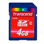 Transcend 4GB SDHC Card 4.95
