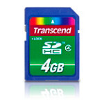 Transcend 4GB SDHC Card 4.99