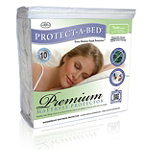 Protect-A-Bed Premium Waterproof Bedding Encasement (Fits Twin 38' x 75', 14' Height Maximum) 15.95