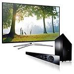 Samsung 55' LED Smart HDTV with Soundbar and Wireless Subwoofer 1239.99