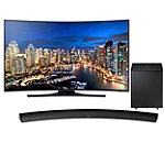 Samsung 55' Curved 4K Ultra HD Smart HDTV with Soundbar and Wireless Subwoofer