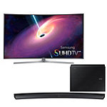 Samsung 55' Curved 4K SUHD 3D Smart TV with FREE Soundbar and Wireless Subwoofer 2497.99