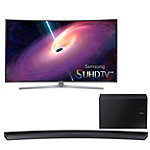 Samsung 55' Curved 4K SUHD 3D Smart TV with Soundbar and Wireless Subwoofer 3097.99