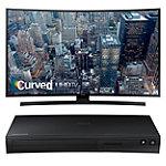 Samsung 55' Curved 4K Ultra HD Smart TV with FREE Wi-Fi Smart Blu-ray Player