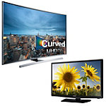 Samsung 55' Curved 4K Ultra HD 3D Smart TV with FREE 24' 720p LED HDTV