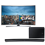 Samsung 55' Curved 4K Ultra HD 3D Smart TV with Soundbar and Wireless Subwoofer 2297.99