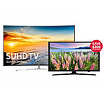 Samsung 55' Curved 4K SUHD Smart TV with $300 Savings on 40' 1080p Smart HDTV
