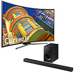 Samsung 55' Curved 4K Ultra HD Smart TV with FREE Soundbar and Wireless Subwoofer